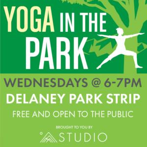 Yoga in the park social media